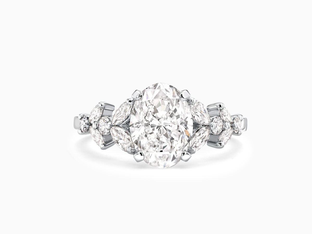 Unique Oval Engagement Ring - Hardwicke