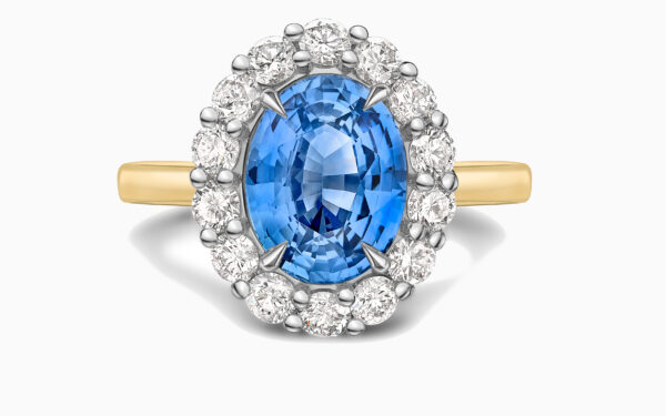 Sapphire and diamond cluster ring website