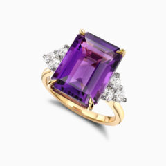 Amethyst cocktail ring 1