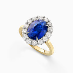 Blue sapphire engagement ring 1