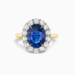 Blue sapphire engagement ring 2