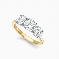 Traditional 18ct yellow gold trilogy ring