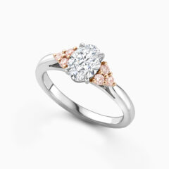 Pink diamond engagement ring perspective