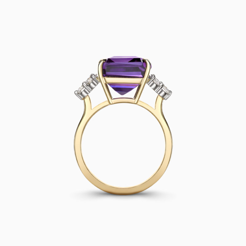 Amethyst cocktail ring 3