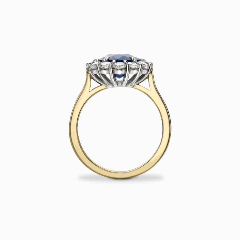 Blue sapphire engagement ring 3