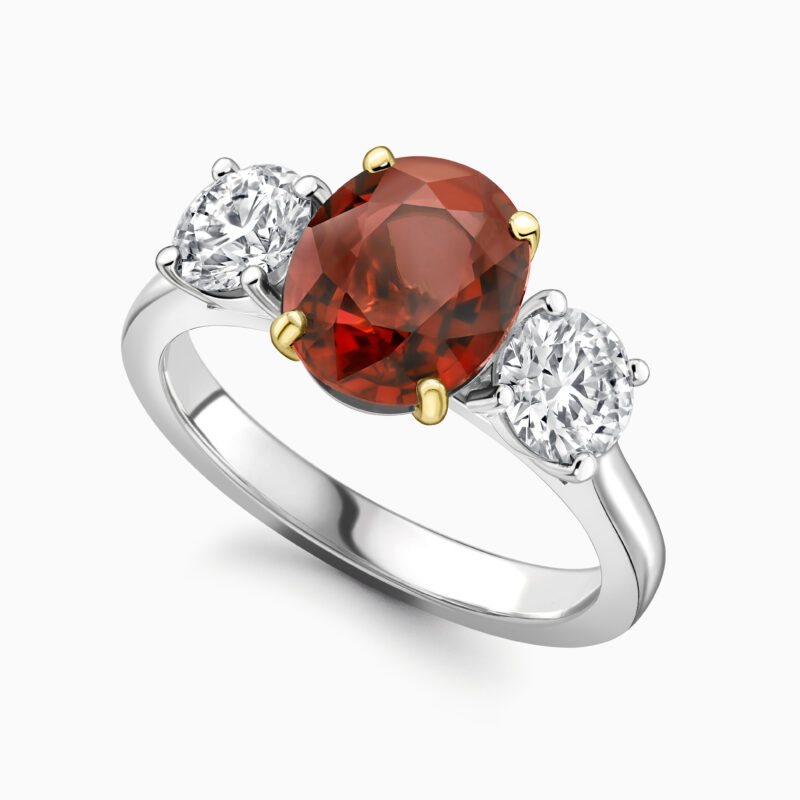 Ruby and diamond trilogy ring A