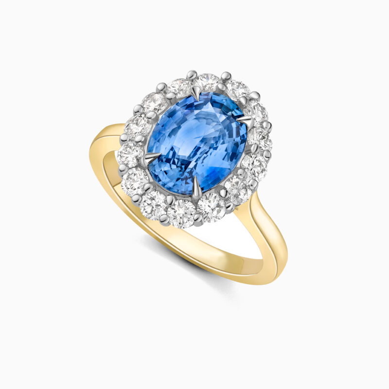 Sapphire and diamond cluster ring website 2