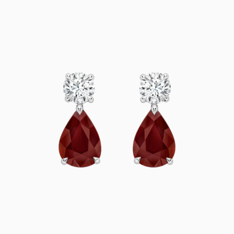 Diamond and Ruby Earings Front Website